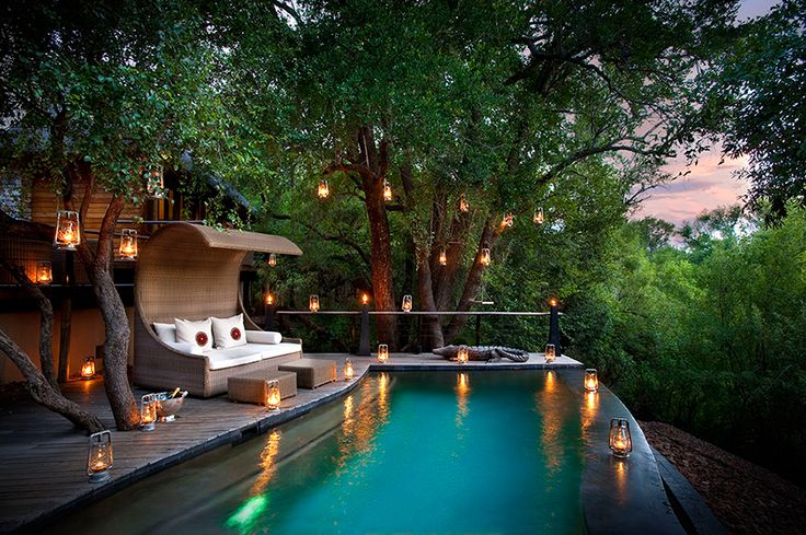 Visitors to the magnificent River House are immediately immersed in the tranquil sounds of the cascading waters of the majestic Marico River. Set on the riverbank in the beautiful Madikwe Game Reserve, which lies on the border of South Africa and Botswana, the river's music transports visitors into a blissful state of relaxation. #travel #africa #luxury #accommodation #lifestyle #affluencemag #beautiful #nature