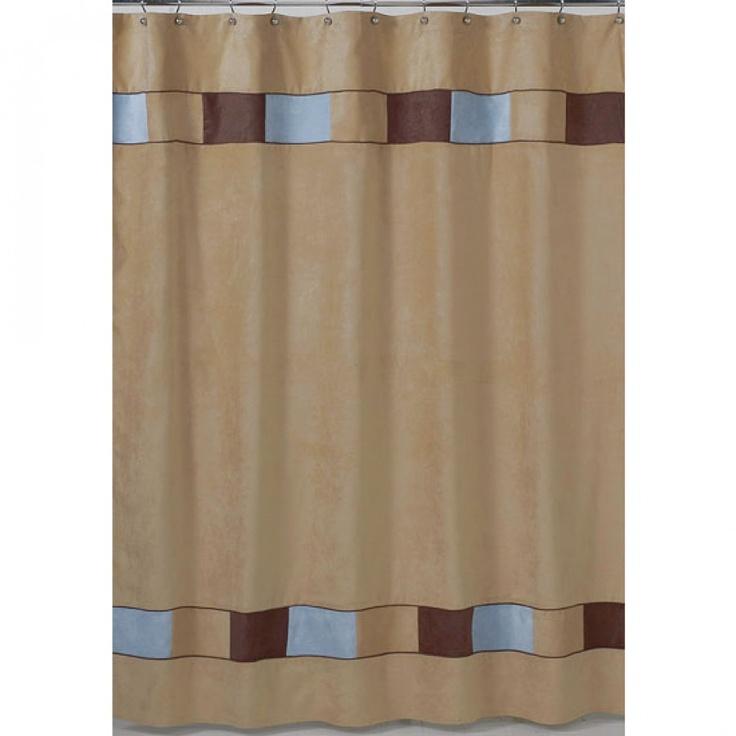 JoJo Designs Soho Blue and Brown Shower Curtain - ShowerCurtain-SohoBlue