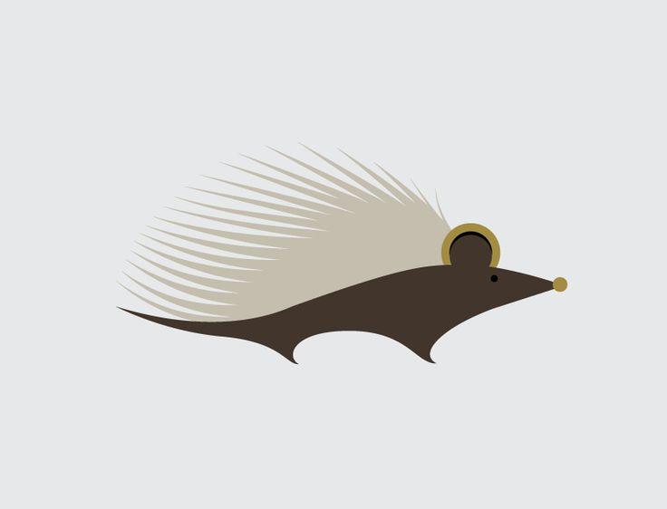 Hedgehog: Hedgehog!  Another in my line of vector animals.