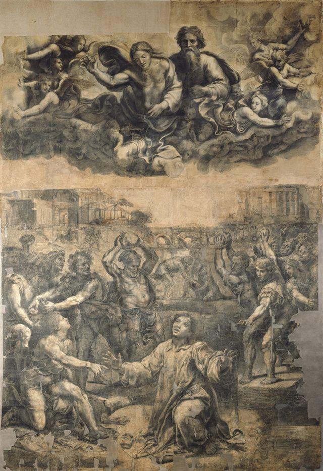 Pinturas de Rafael: Cartón para la Lapidación de san Esteban