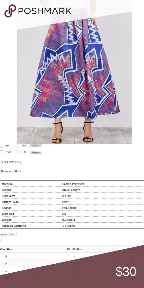 High waisted African tribal print Skirt Beautifully made High waisted Skirt. Please see pictures for sizing information. ✅ ships next business day. ❌trades Skirts Midi