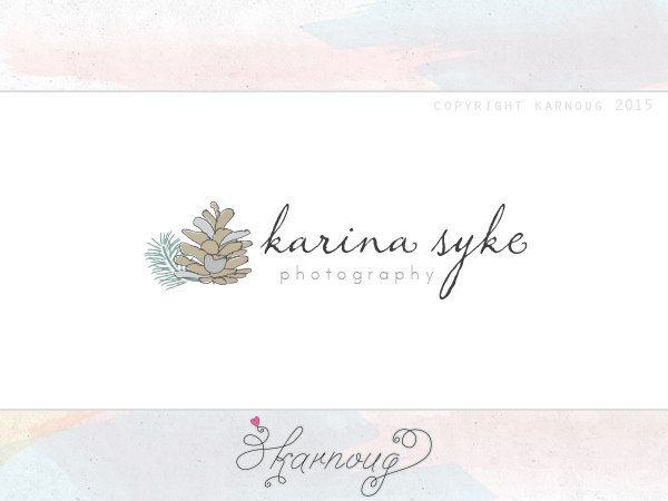 Pinecone Logo, Nature Logo, Leaf Logo, Custom Logo, Premade Logo, Custom Watermark, Photography Logo, Boutique Logo by karnoug on Etsy