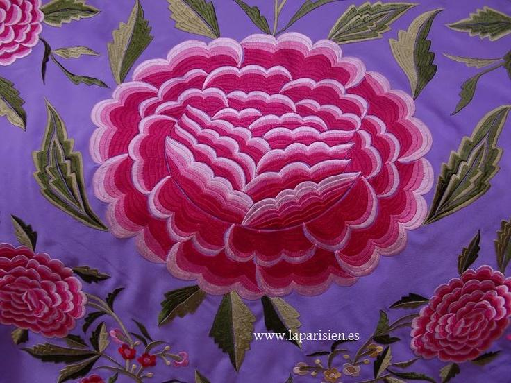 Mantón de Manila. mantones de manila malvas [malvacolorjesus] - 1.400,00€ : LA PARISIEN
