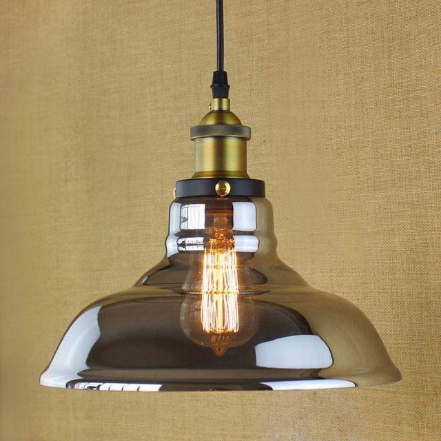 Ретро Винтажный Стиль Industrial Эдисон лампы Стеклянные подвесные светильники для кухни Ресторан Кафе Украшения E27