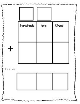 Wonderful way to help kids organize their thoughts on addition and subtraction.  Laminate and you can use them over and over again!