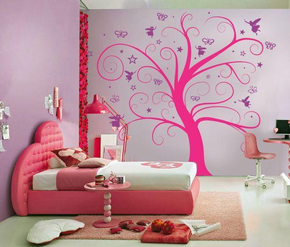 #Decora la habitación de tu hija con Vinilos decorativos.