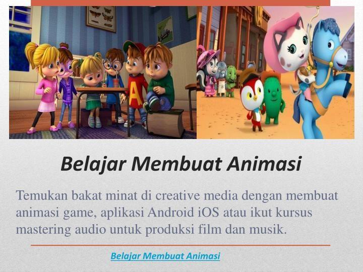 http://sukawu.com/kategori/kursus-media-kreatif Temukan bakat minat di creative media dengan membuat animasi game, aplikasi Android iOS atau ikut kursus mastering audio untuk produksi film dan musik