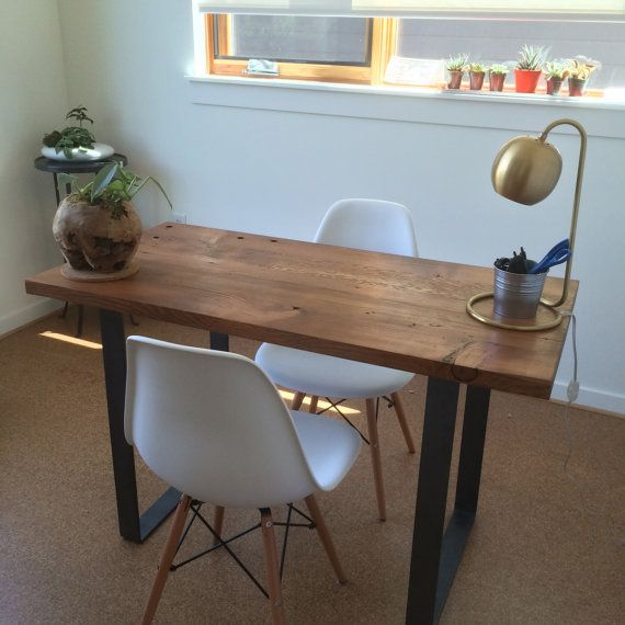 Best 25 reclaimed wood desk ideas on pinterest l desk for Reclaimed wood portland or