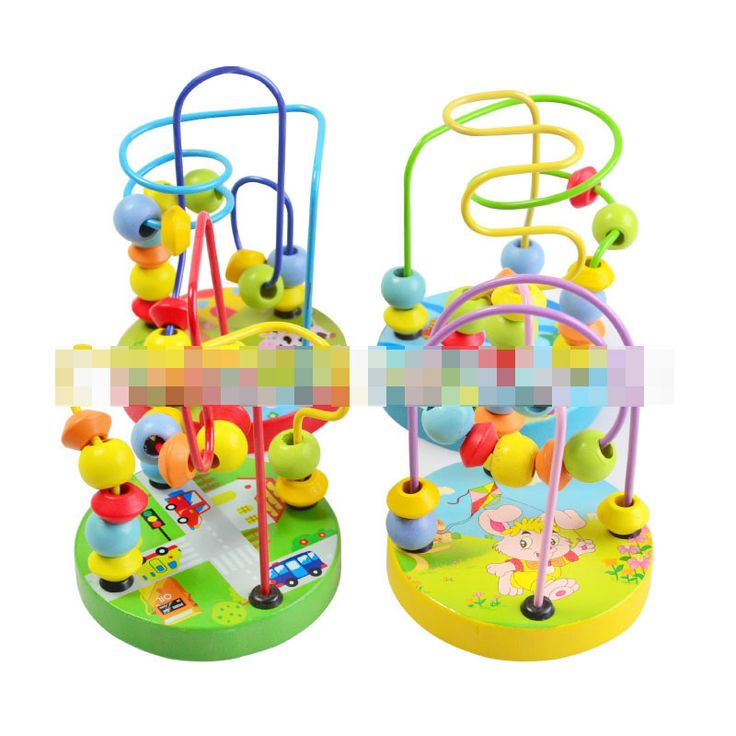 ホット1ピースbyランダム子供のtoys赤ちゃん人形キッズ教育learing toysビーズストリングのビーズゲームミニワイヤー迷路ビーズ