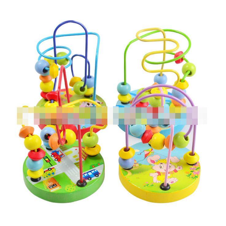 Hot 1 pz by casuale per bambini toys baby doll bambini educational learing toys perline stringa di perline gioco mini wire maze perline