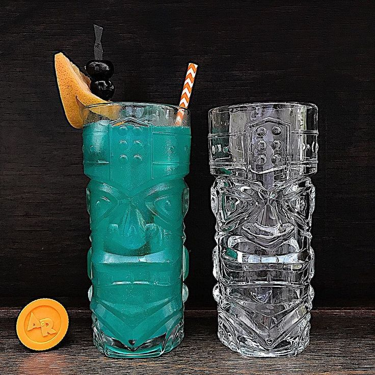 Its not snowing in Sydney but we can still #tikithesnowaway in January like @sashadallasgirl and our wintry northern hemisphere pals.  #responsibly . Our Rock Blue Hawaii Tiki adapted from Harry Yees Hawaiian 1957 classic. . 45mls or 3/4oz Alaskan Rock Vodka 45mls or 3/4oz Angostura Trinidad Rum 45mls or 3/4oz Vok Blue Curaçao 90mls pineapple juice 30mls lemon juice 2 Armarena cherries and 1 chunky wedge of grapefruit for garnish Tiki glassware a jet black Alaskan Rock cocktail stick and a…