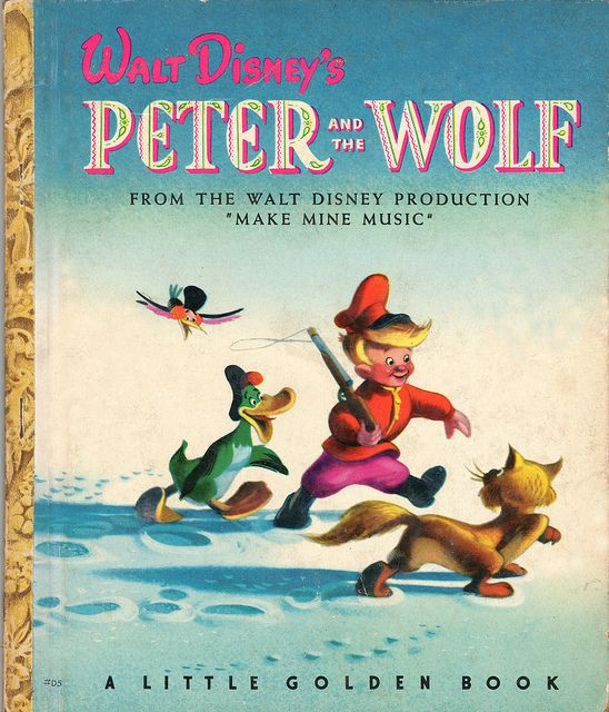 "disney's ""peter and the wolf"" little golden book"