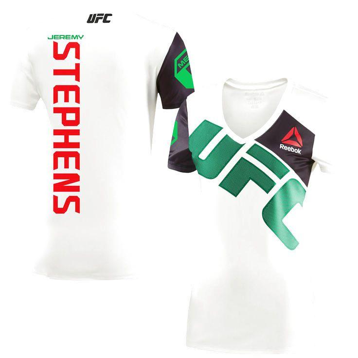 Jeremy Stephens UFC Reebok Women's Walkout Jersey - Chalk - $84.99