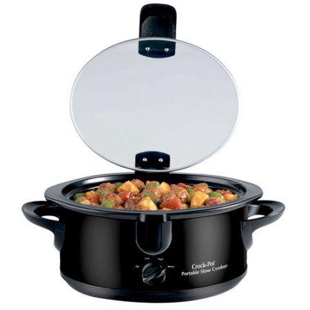 Rival Crock Pot 6-Quart Portable Slow Cooker