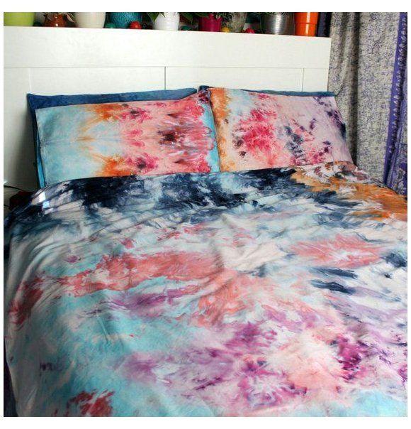Tie Dye Duvet Cover Duvet Cover And Pillow Cases Watercolour Dreams Dyed Duvet Cover Diy Hand Dyed Waterc Tie Dye Duvet Duvet Cover Diy Tie Dye Bedding