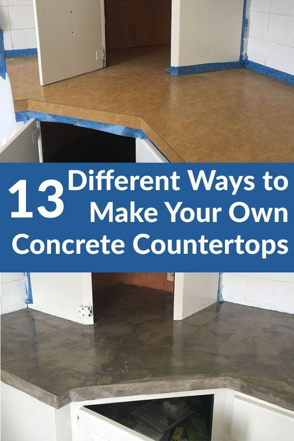 Ready to redo your kitchen? Concrete countertops are a great budget-friendly option.