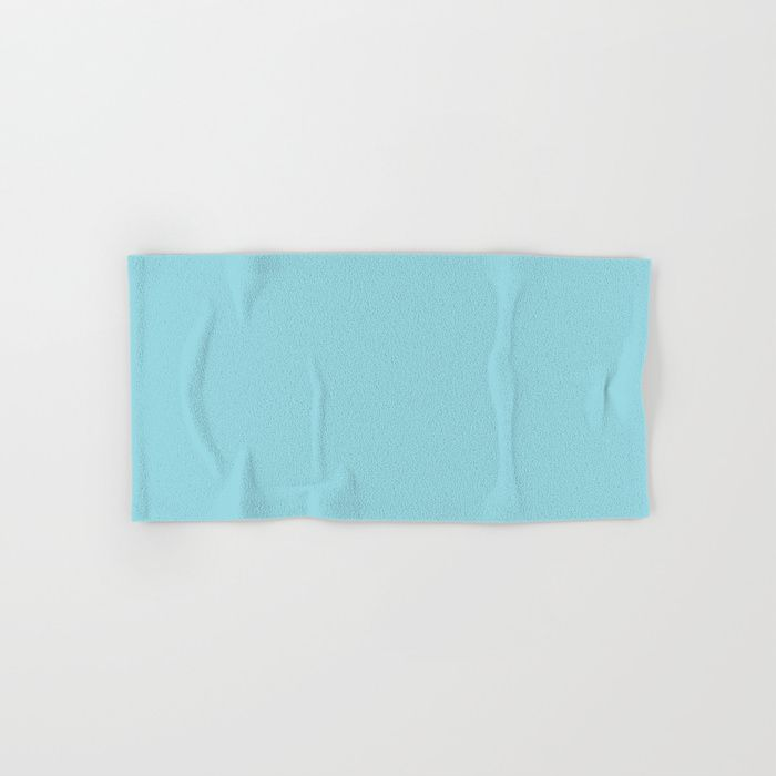 Solid Sky Blue Color Hand Bath Towel Bathtowel Towels