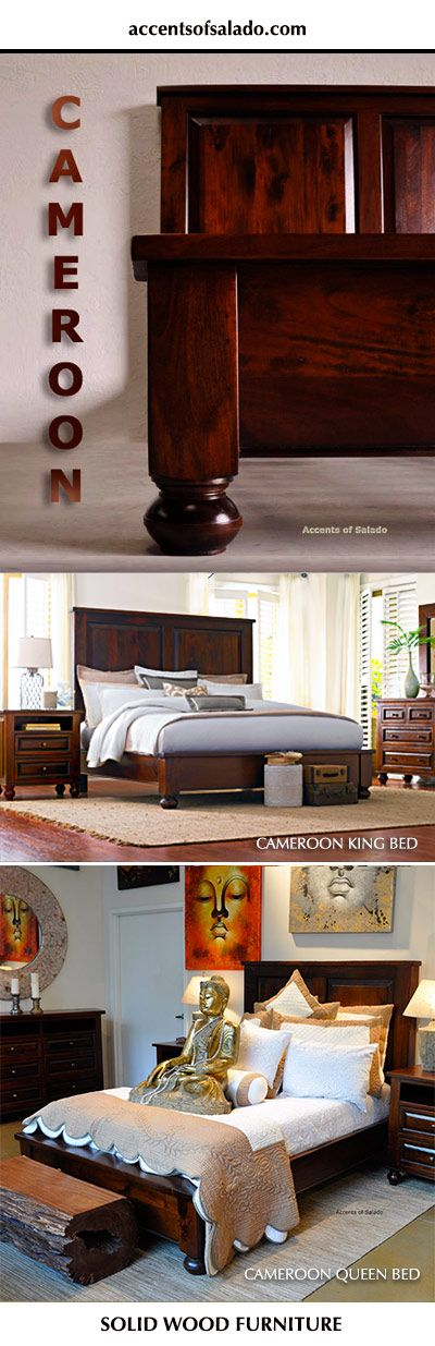 Cameroon Old World Bedroom Furniture - Quality craftsmanship, hand stained  finishes and solid acacia wood