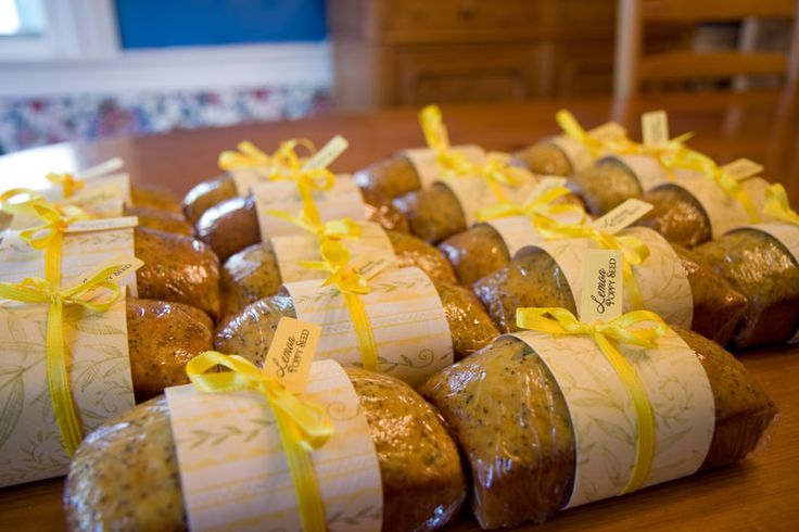 Bake Sale- lemon poppy seed loaves -- like the packaging more than the recipe