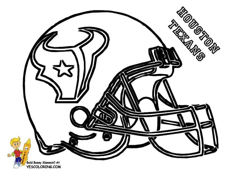 nfl football stencils houston texans football helmet coloring sheets to print kids