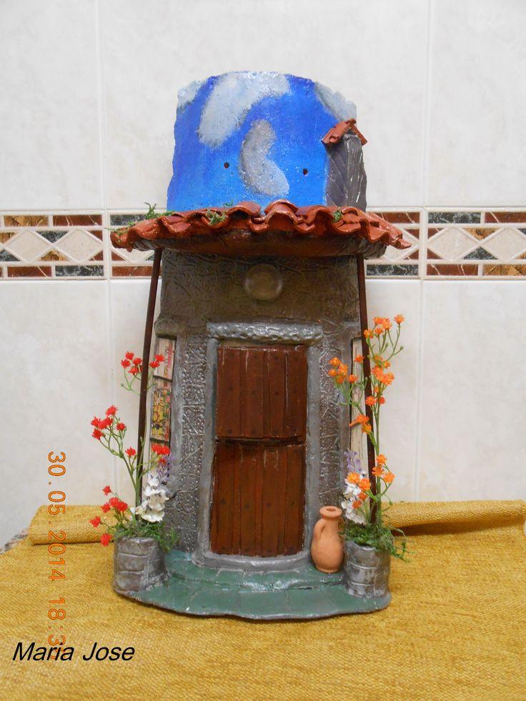 teja rustica  fachada  de una casa