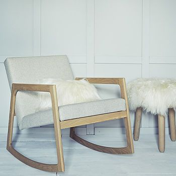 Derry Rocker. Exquisitely hand crafted, our streamlined solid oak rocking chair is both simple and stylish. £1450  http://www.cruxbaby.co.uk/shop/nursery-furniture/derry-rocker-2/