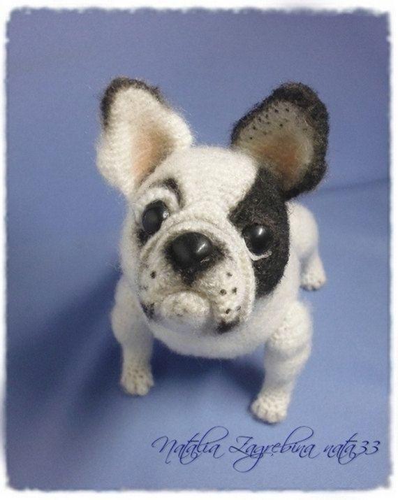 French Bulldog Crocheted Dogs Foxes Pinterest Crochet