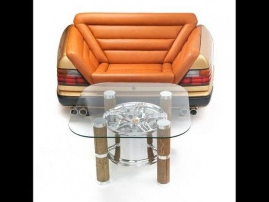 Unique Coffee Tables And Sofas Made Of Car Parts - ArchitectureArtDesigns.com