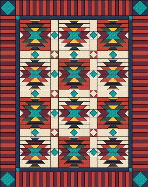 Southwest Quilt Pattern Native American American Indian Etsy Native American Quilt Patterns Native American Quilt American Quilts Patterns
