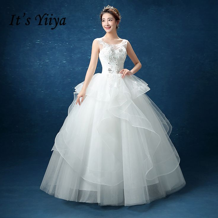 ==> [Free Shipping] Buy Best Free shipping 2016 new white wedding frocks Sleeveless O-neck bridal gowns wedding dress princess quality Vestidos De Novia D91 Online with LOWEST Price | 32457090795