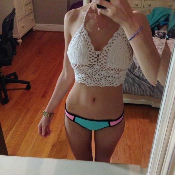 Swim - •JUST IN• White Crochet Bralette