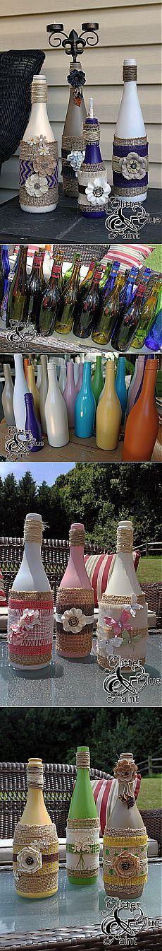 Винные бутылки - Блеск  и краски