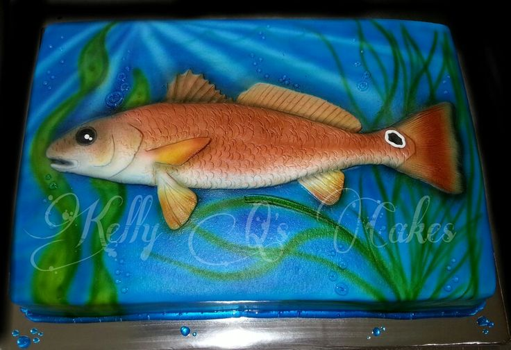 Fish grooms cake! https://www.facebook.com/ KellyQLovesCake