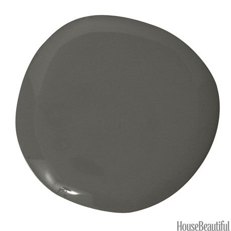 """Dragon's Breath 1547 (Benjamin Moore paint) for backyard fencing """"perfect backdrop for plants"""""""