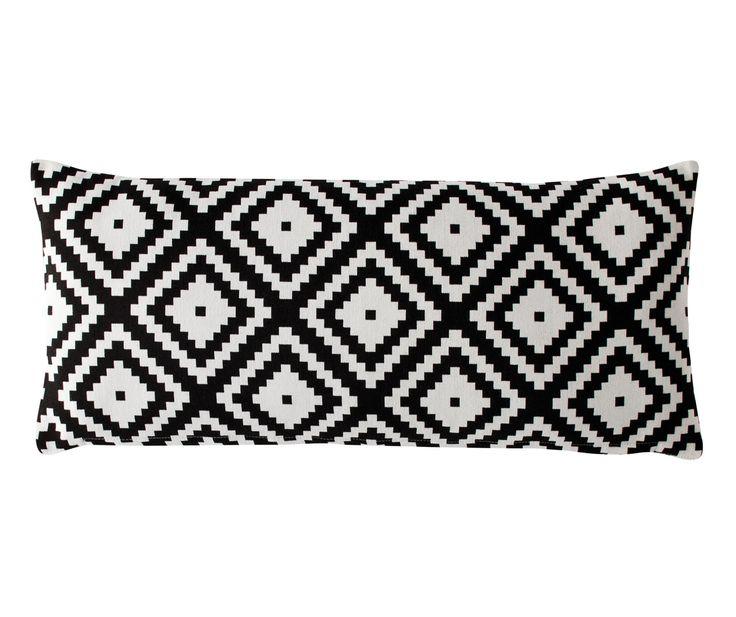 Zahra Black Boudoir Cushion