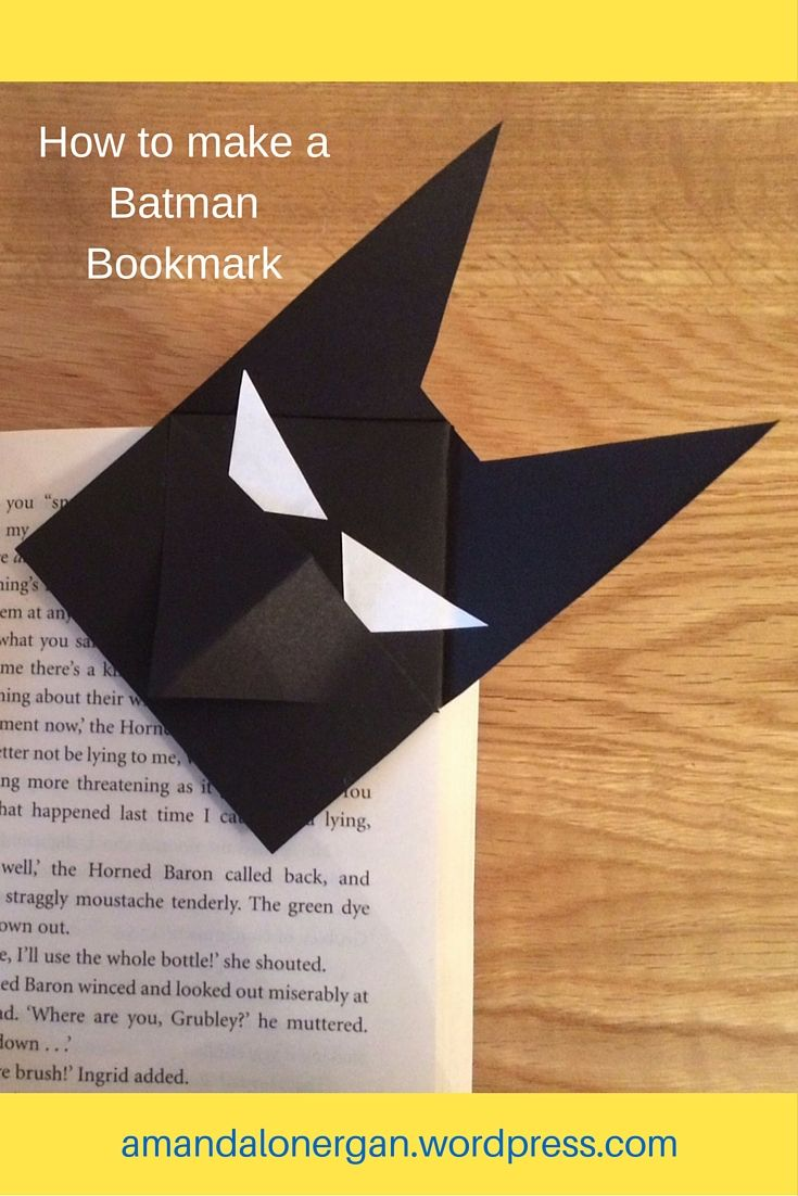 BATMAN BOOKMARK: Batty about Batman? Follow 8 easy steps to making your own superhero bookmark.