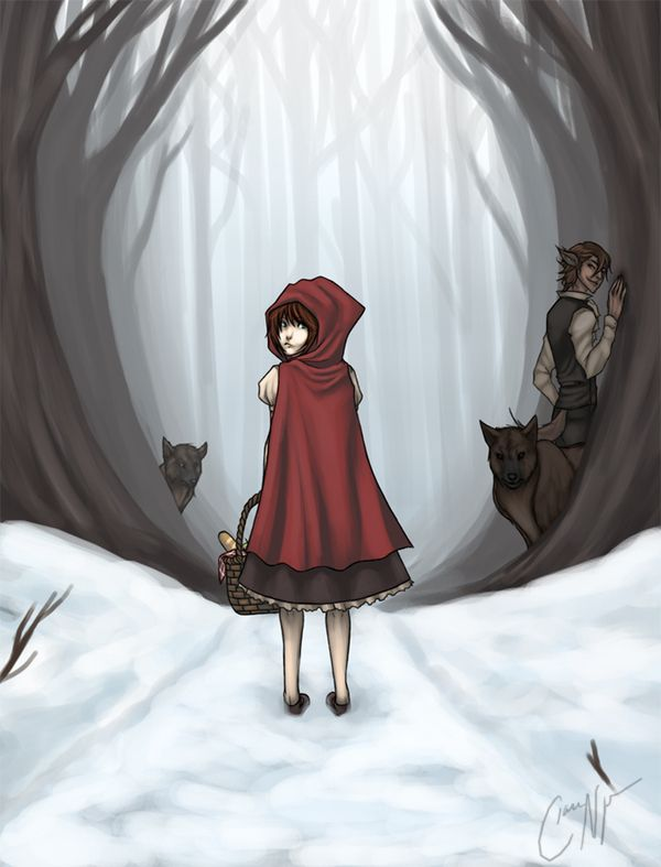"""little red riding hood and wolf anime 