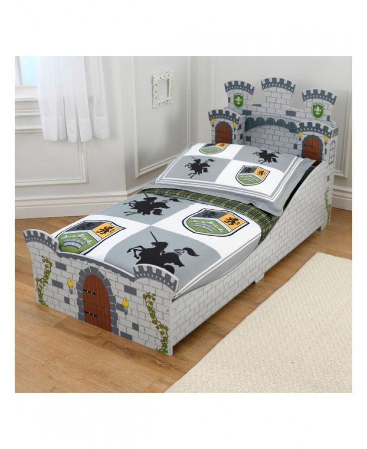 KidKraft Medieval Castle Junior Toddler Bed Stunning Makes The Transition From A Cot To Regular As Easy Possible Low