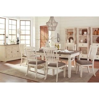 Shop for Signature Design by Ashley Bolanburg Two-tone Rectangular Dining Room Table. Get free shipping at Overstock.com - Your Online Furniture Outlet Store! Get 5% in rewards with Club O! - 20822317