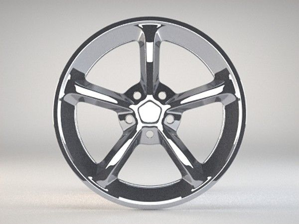 Aftermarket Wheel Rim 3D Obj - 3D Model