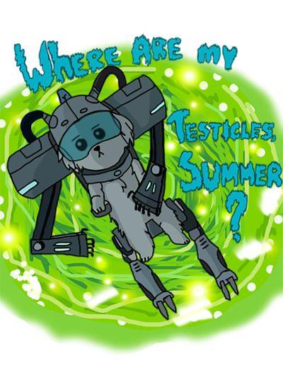 Where are my testicles Summer?  http://frikinianos.es/where-are-my-testicles-summer/  #snuffles #snowball #RickAndMorty #RickSanchez