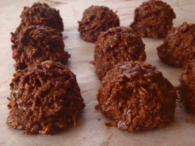 Chocolate Coconut Macaroons for Passover. Easy and delicious.