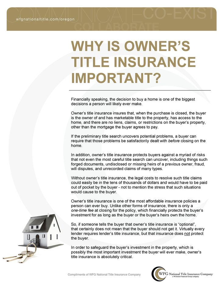 Owners title insurance