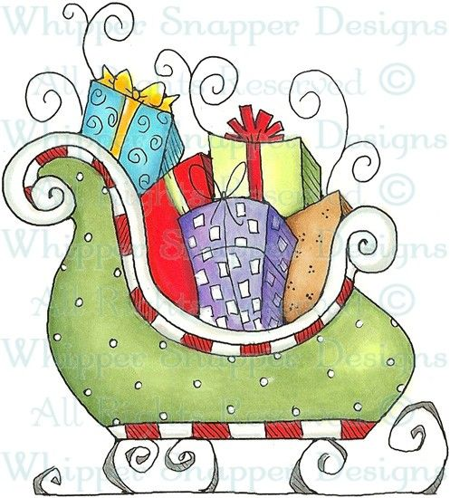 Santa's Sleigh - Christmas Images - Christmas - Rubber Stamps - Shop Christmas cards