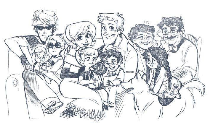 big happy homestuck family :) -- it's s o cute i'm gonna cr y