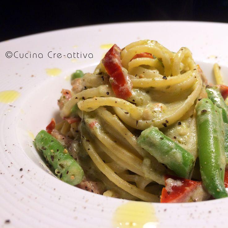 Linguine cremose – Cucina Cre-Attiva
