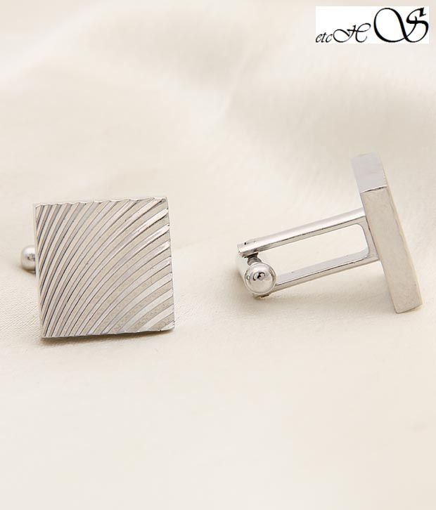 Etchs Silver Square Diamond Cuts Design Luxurious Cufflinks, http://www.snapdeal.com/product/etchs-silver-square-diamond-cuts/235010