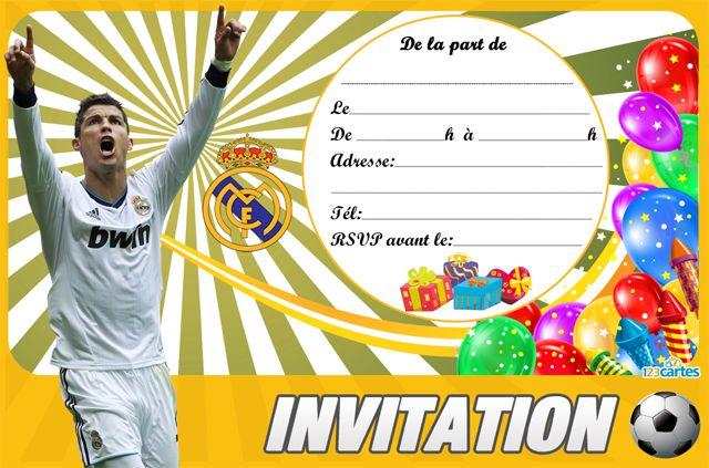 football - Cartes et invitations gratuites - 123 cartes