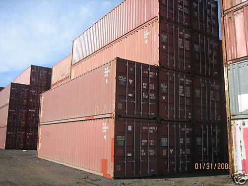 Huge 40 ft  gives interior dimensions  Shipping Storage Container Conex Box Steel Freight ISO Cargo Trader