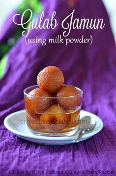 gulab jamun using milk mawa powder, easy gulab jamun recipe